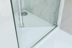 Box para Banheiro de Vidro com Aço Inox - ARTY