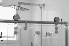 Box para Banheiro de Vidro Temperado e Perfil em Aço Inox - Elite