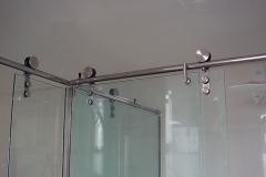 Box de vidro para banheiro com aço inox - ELITE