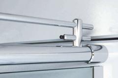 Box para Banheiro de Vidro com Aço Inox - LIFE