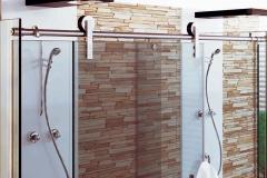 Box para Banheiro de Vidro com Aço Inox - MAX
