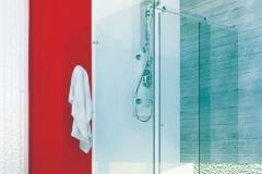 Box para Banheiro de Vidro com Aço Inox - New Clean