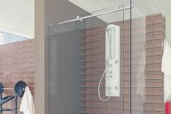 Box para Banheiro de Vidro com Aço Inox - QUANT