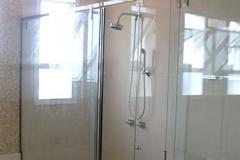 Box para Banheiro de Vidro com Aço Inox - SQUARE