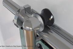 Box para Banheiro de Vidro com Aço Inox - STYLE