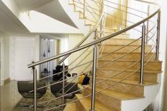 Corrimão Escada Caracol - 4 Travessas 01