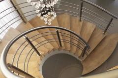 Corrimão Escada Caracol - 4 Travessas 02