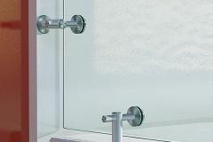 Guarda-corpo de vidro com Aço Inox - Conectores