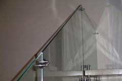 Guarda-corpo de vidro com Aço Inox - SINGLE