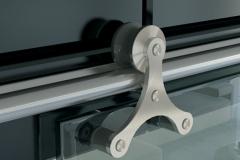 Porta de Vidro de vidro com Aço Inox - Bumerang