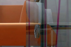Porta de vidro com Aço Inox - CONICAL