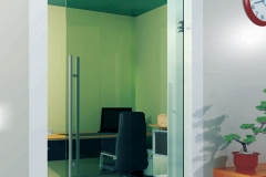 Porta de vidro temperado com aço inox - OPEN