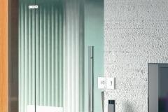 Porta de vidro temperado com aço inox - OPEN E