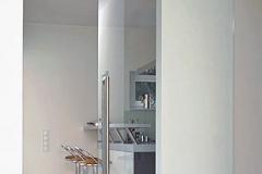 Porta de vidro temperado com aço inox - SOLO