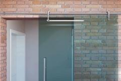 Porta de vidro temperado com aço inox - STYLE