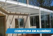 Cobertura de Vidro em Alumínio