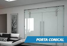 Porta de Vidro Conical