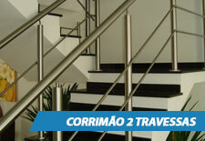Corrimão para Escada - 2 Travessas