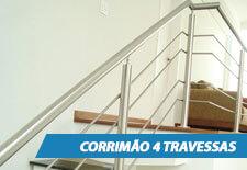 Corrimão para Escada - 4 Travessas