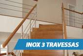 Guarda-Corpo - Inox 3 Travessas