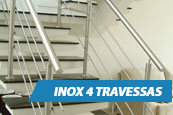 Guarda-Corpo - Inox 4 Travessas