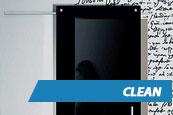 Porta de Vidro Clean