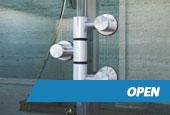 Porta de Vidro Open
